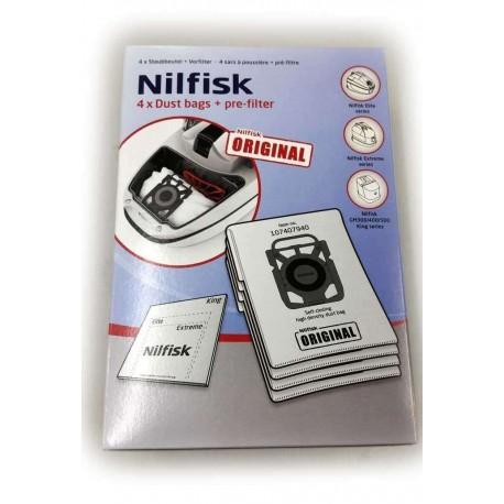 Bolsa aspirador Original Nilfisk series Extreme Elite y King Originales 4 + filtro